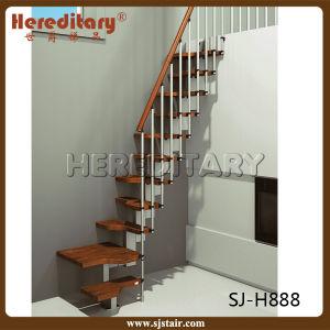 interior de acero tiny escalera recta con vertical baranda sj h