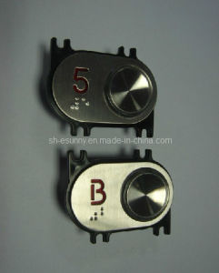 Höhenruder Blindenschrift Button Installed durch Screw (SN-PB119)