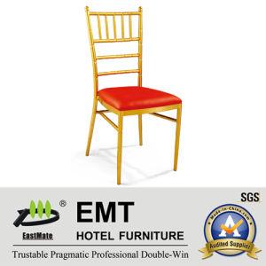Chaise d'or de banquet en métal de couleur (EMT-805)