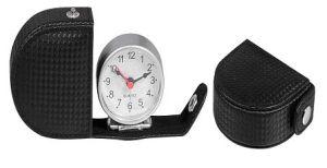 Horloge d'alarme en cuir de voyage (KV715)