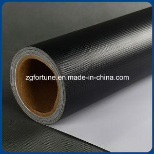 Bandeira do cabo flexível do preço de fábrica 440GSM Blockout Branco-Preta para a impressora do grande formato