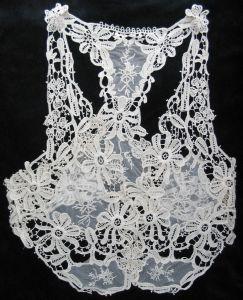 Jupe brodée de femmes de blouson de lacet (GRNL11 461)