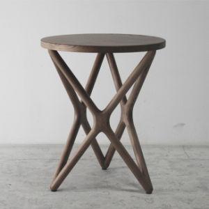 나무로 되는 가구 공상 디자인 고아한 단단한 나무 탁자 ...