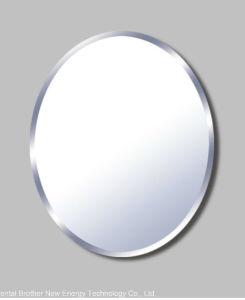 Espejo biselado redondo con los muebles del espejo de la for Espejo redondo bano
