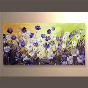 Pintura a óleo abstrata de Flower para a sala de jantar ... Union J Monkey