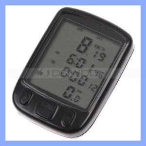 24 Funktionen imprägniern LCD-komprimierenden Fahrrad-Fahrrad-Geschwindigkeitsmesser, Computer-Entfernungsmesser-Digital-Geschwindigkeitsmesser (LCS-052)