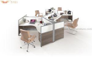 Bureau modulaire de poste de travail d 39 ordinateur de 4 for Bureau marguerite 4 personnes
