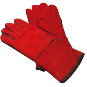 Guantes de soldadura de cuero, guantes de cuero de la soldadura, guantes de soldadura de la seguridad (WTWG008)