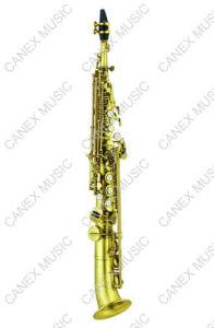 Saxophone incliné de /Soprano du saxophone de soprano de Bell (SASS401)