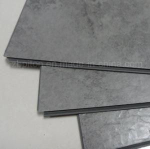 De kleur van het cement klikt tegel van de vloer van pvc de vinyl de kleur van het cement for Tegel pvc imitatie tegel cement