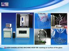 Machine UV en verre de sablage de laser pour l'ornement en verre, cuvettes en verre