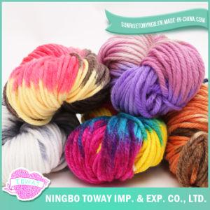 Chunky do arco-íris Pintado Mão tecer tricô de poliéster Acrílico Fios (T008)