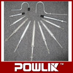 Eixos galvanizados a quente para o tipo isoladores do Pin, encaixe do poder