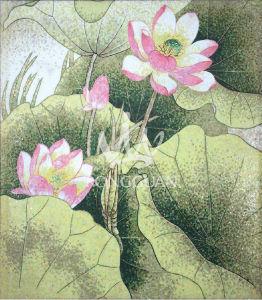 Maschera del fiore priorit bassa della parete disegno for Parete a mosaico