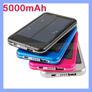 5000mAh Power Bank für iPhone iPod iPad Handys Solar Portable Battery Charger