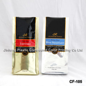 쿼드 밀봉 벨브 커피 콩 부대