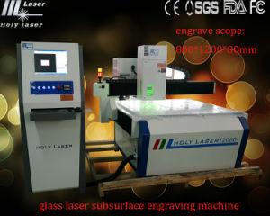 Machine de gravure à fleur de terre de grande taille à haute fréquence de laser à verre de Hsgp-L