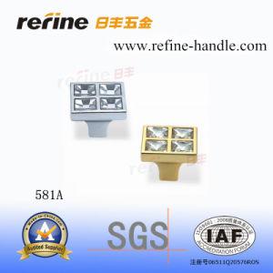 Bouton en alliage de zinc de meubles de matériel (Z-581A)