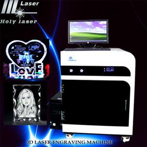 Nouvel équipement personnalisé pour 3D Photo Graveur et Crystal intérieur de l'imprimante 3D portable Laser Engraving Machinery Prix (HSGP-4 Ko)