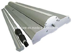 Wide de luxe Base Aluminum Roll acima de Stand (pólo flexível) (FB-LV-21)