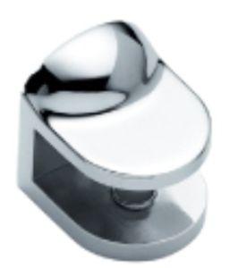 Suporte de suporte de prateleira de gabinete de vidro de liga de zinco (FS-3043)