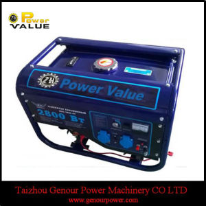 최신 Sale 100%년 Copper Wire 2.5kw Portable Gasoline Generator (ZH3500)