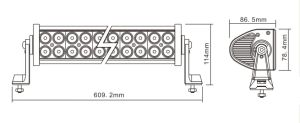 Barre lumineuse superbe de 10-30V 120W DEL outre de camion tous terrains de barre d'éclairage LED de CREE de la route 4X4
