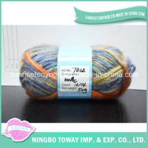 Main Kinning Yarn 4.5s / 3 Espace Dyed Fantaisie Acrylique Tissu