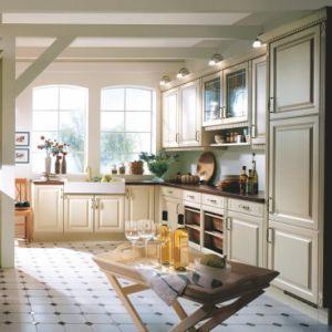 Armadi da cucina sollevati americani di legno solido di stile della ...