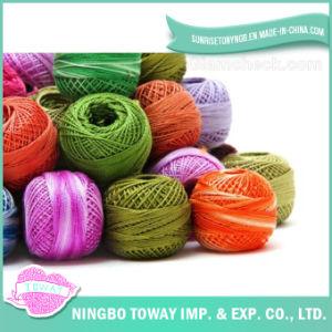 Fio extravagante de nylon tricotando manualmente por atacado de lãs acrílicas finas macias coloridas