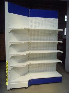Supermercado Corner Shelf com Perforated Back Panel