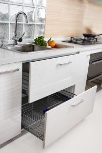 Module de cuisine en bois de m lamine de couleur de type - Cuisine en forme de l ...