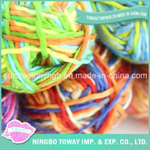 Tt Weave Main Tricot Fantaisie arc-en-Dyed Acrylique Simi Thin-Thick Fils (T104)