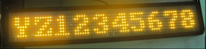 Afficheur LED 7*80DOT de P12 Super Bright Amber Bus