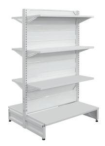 Double étagère de supermarché en métal de côtés (HY-09)