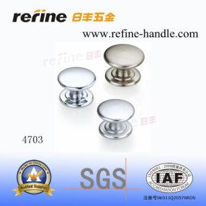 Bouton en alliage de zinc en aluminium adapté aux besoins du client de Cabinet de tiroir de meubles de cuisine