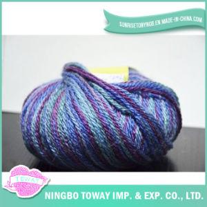 100% coton à tricoter de point de croix de fil de laine Craft Yarn