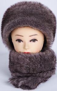 100% PolyRabbit Fur Winter Warm Hats und Scarves