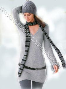 Suéter largo del cuello de la seda y de la cachemira V (HM-SW09025)
