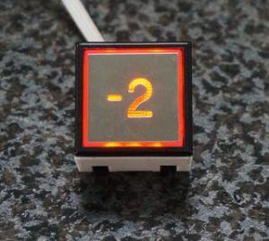 Höhenruder Button Square Button für Mitsubishi (SN-PB310)
