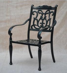 Chaise ext rieure de bras en m tal de patio de meubles de jardin de fonte d 39 aluminium chaise Meuble jardin metal