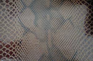 De couro de cobra em relevo Estilo PVC