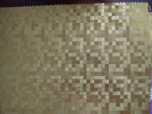 Couro artificial gravado do PVC do projeto de superfície para o sofá