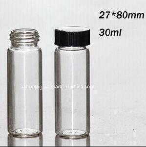 fiole en verre de tube essai du cylindre 30ml avec le. Black Bedroom Furniture Sets. Home Design Ideas