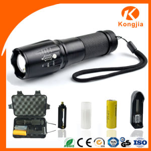 aluminium zoomables rechargeable tactique t6 cree led. Black Bedroom Furniture Sets. Home Design Ideas