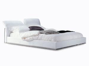 2014 현대 디자인 가구 최신 판매 침실 가구 백색 PU 가죽 Fabri 침대 ...
