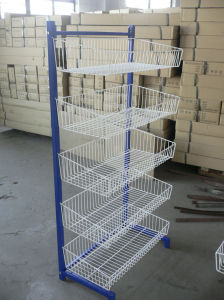 Cinq couches de treillis métallique en métal de panier de l'étagère de présentoir (HY-WM2)