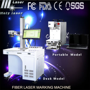 Prix portatif de machines de /Marking de gravure en métal de la machine d'inscription de laser de fibre en métal/laser