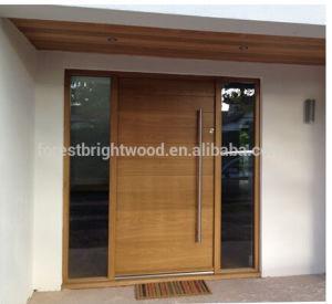 Het eigentijdse moderne ontwerp van de voordeur van de stijl buiten stevige houten het - Eigentijdse badkamer fotos ...