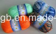 Tissu Acrylique Bon Marché Tricoté de Teinture Colorée Estampé par Filé en Gros (T001)